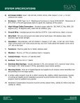 Avian Flyaway Inc. System Specifications - NFMT - Page 2