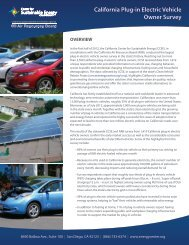 California Plug-in Electric Vehicle Owner Survey - PEV Collaborative