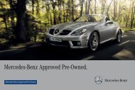 Mercedes-Benz Approved Pre-Owned Brochure