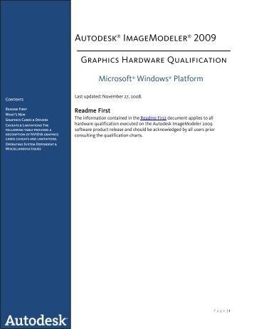 ImageModeler Graphics Qualification.PDF - Autodesk