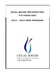 Fakültemiz 2013 - 2014 Akademik Takvimi - Celal Bayar Üniversitesi ...