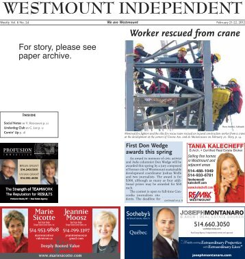 February 21 - Westmount Independent