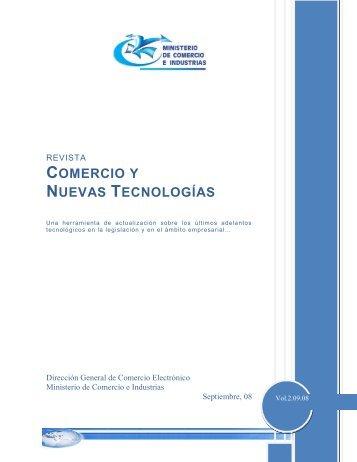 comercio y nuevas tecnologías - Ministerio de Comercio e Industrias