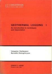GEOTHERMAL LOGGING l - Orkustofnun