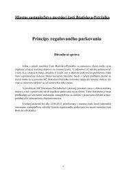 Princípy regulovaného parkovania – Dôvodová správa - Petržalka
