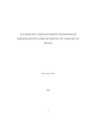 Tesis - Localización y Reconocimiento de Rostros en Imágenes ...