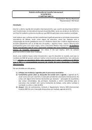 Relatório da Reunião do Conselho Internacional 24-26/06/2011 IC ...