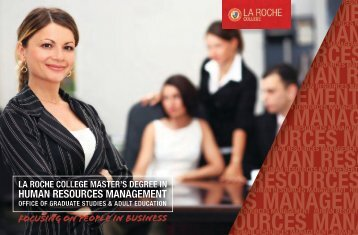 HUMAN RESOURCES MANAGEMENT - La Roche College