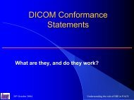 DICOM conformance statements