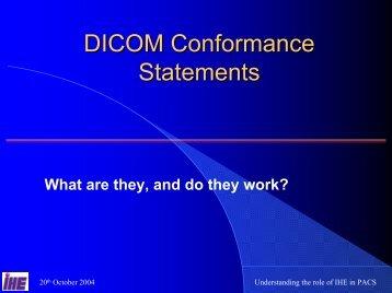 DICOM conformance statements