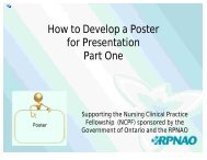 How to Develop a Poster for Presentation Part One - RPNAO