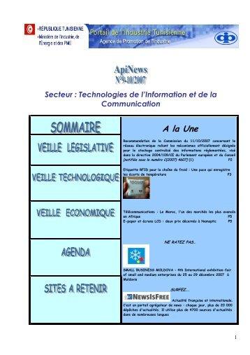 Secteur : Technologies de l'Information et de la ... - Tunisie industrie