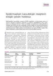 Epidermaalisen kasvutekijän reseptorin estäjät ... - Terveyskirjasto