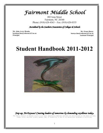 Student Handbook 2011-2012 - Public Schools of Robeson County