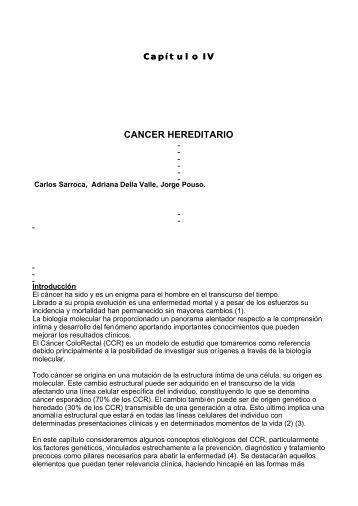 CANCER HEREDITARIO - ProctoSite