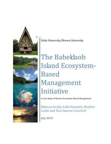 The Narragansett Bay Estuary Program - University of Michigan