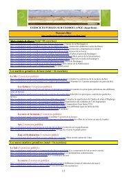 Récapitulatif des exercices du site exoboulange 1 (liens hypertexte).