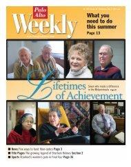 Lifetimes 5/5/04 Cover (Page 1) - Palo Alto Online