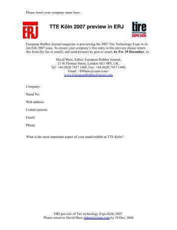 Download form in .PDF format - European Rubber Journal