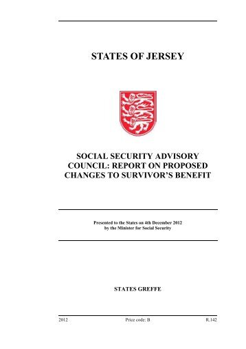 Social Security Advisory Council- Report on ... - States Assembly