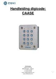 Handleiding digicode: CAASE - Easy catalogue