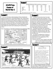 SOAPStone-Causes of World War I