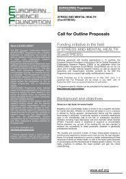 Call for Outline Proposals