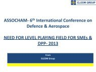 Need For Level Playing Field For SMEs & DPP-2013