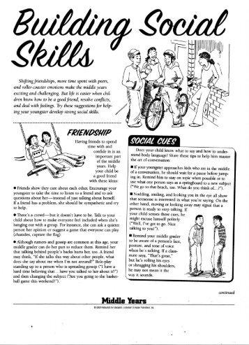 Building Social Skills - Farmington Public Schools