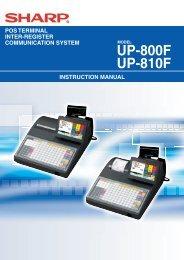 UP-800F/810F Operation-Manual Supplement GB - Sharp