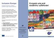 Evropská unie proti sociálnímu vyčleňování - Společnost pro ...