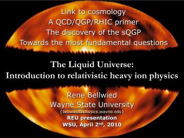 Introduction to Nuclear Physics - RHIG - Wayne State University