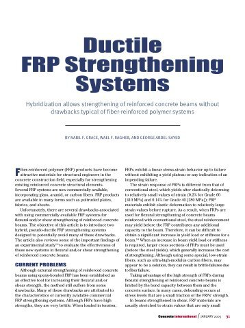 Ductile FRP Strengthening Systems - Lawrence Technological ...