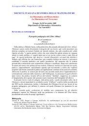 Il progetto pedagogico del Liber Abbaci - Matematica