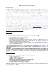 403(b) Plan Information for Employees