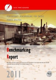 Benchmarking Report Date: 18.03.2013 - Pacific Power Association