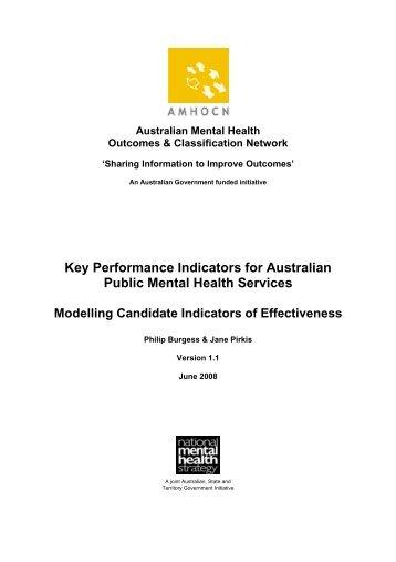 Modelling Candidate Indicators of Effectiveness - Australian Mental ...