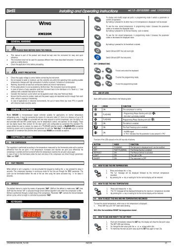 Installing and Operating Instructions WING - Acr-asia.com