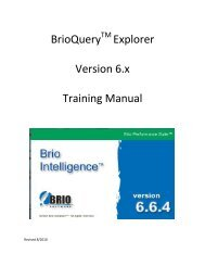 Brio v6.6 Training Manual - Office of Information Technology ...