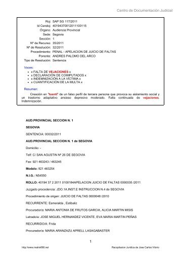 Centro de Documentación Judicial 1 - Matrix666