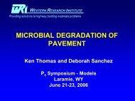 microbial degradation of pavement - Petersen Asphalt Research ...