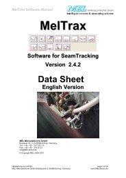 MelTrax Software Manual