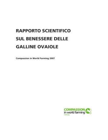 RAPPORTO SCIENTIFICO - Compassion in World Farming