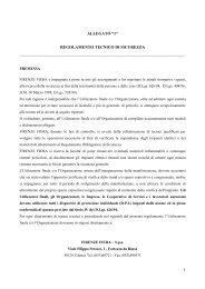 """ALLEGATO """"1"""" REGOLAMENTO TECNICO DI SICUREZZA - Aniarti"""