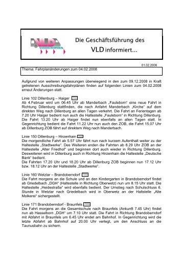 Die Geschäftsführung des VLDinformiert...