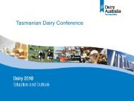 Situation and outlook – Jo Bills - DairyTas