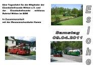 Ausschreibung Eslohe - Eisenbahnfreunde Witten
