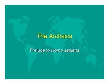 The Archaics