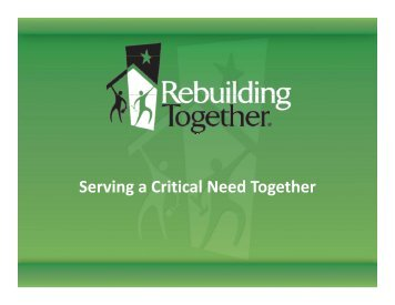 Rebuilding Together Overview - Joint Center for Housing Studies