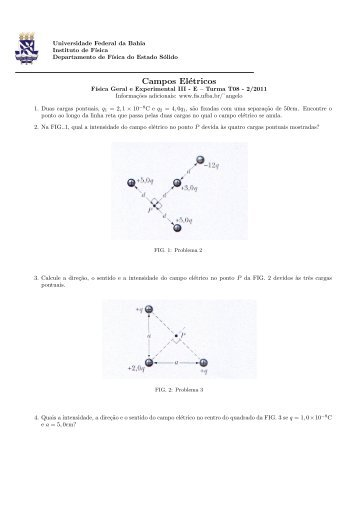 Campos Elétricos - Instituto de Física da UFBA - Universidade ...